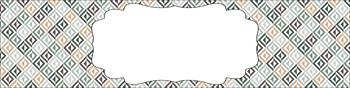 Editable Sterilite Drawer Labels - Multi-Color: Cozy Cabin