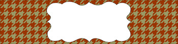 Editable Sterilite Drawer Labels - Dual-Color: Crunchy Leaves