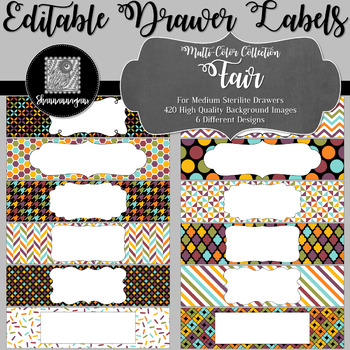 Editable Medium Sterilite Drawer Labels - Fair