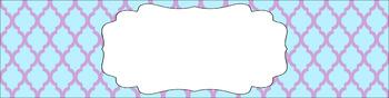 Editable Sterilite Drawer Labels - Dual-Color: Frostbite