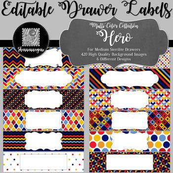Editable Medium Sterilite Drawer Labels - Hero