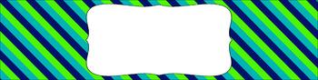 Editable Medium Sterilite Drawer Labels - Lagoon