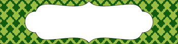 Editable Medium Sterilite Drawer Labels - Leafy Green