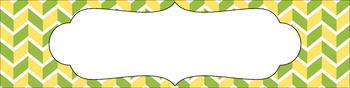 Editable Medium Sterilite Drawer Labels - Lemongrass