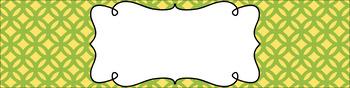 Editable Sterilite Drawer Labels - Dual-Color: Lemongrass