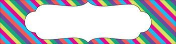 Editable Sterilite Drawer Labels - Multi-Color: May