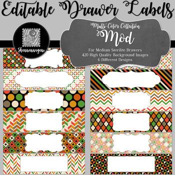 Editable Medium Sterilite Drawer Labels - Mod