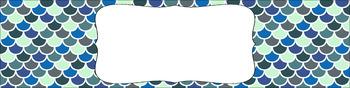 Editable Medium Sterilite Drawer Labels - Moonlight Sonata