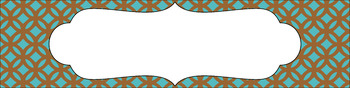 Editable Sterilite Drawer Labels - Dual-Color: Mountain Hike
