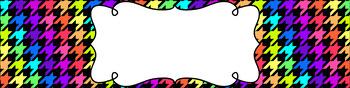 Editable Sterilite Drawer Labels - Rainbow: Neon Rainbow