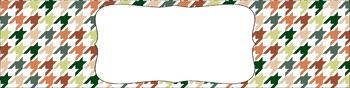 Editable Medium Sterilite Drawer Labels - Organic