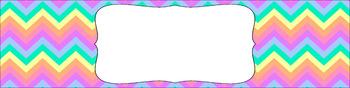 Editable Medium Sterilite Drawer Labels - Rainbow: Pastel