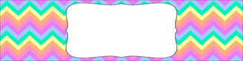 Editable Sterilite Drawer Labels - Rainbow: Pastel