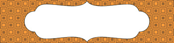 Editable Medium Sterilite Drawer Labels - Pumpkin Patch