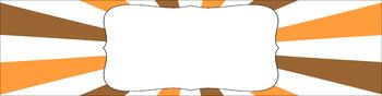 Editable Medium Sterilite Drawer Labels - Pumpkin Patch
