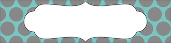 Editable Sterilite Drawer Labels - Dual-Color: Rainy Day
