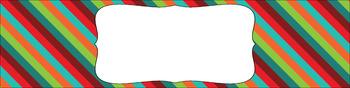 Editable Sterilite Drawer Labels - Multi-Color: Retro
