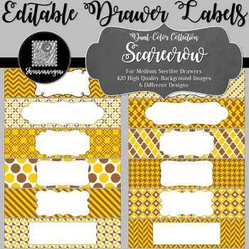 Editable Medium Sterilite Drawer Labels - Scarecrow