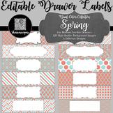 Editable Medium Sterilite Drawer Labels - Spring
