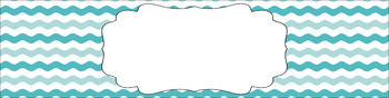 Editable Sterilite Drawer Labels - Dual-Color: Summer Sky