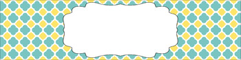Editable Medium Sterilite Drawer Labels - Sunny Day