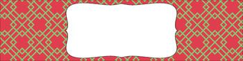 Editable Medium Sterilite Drawer Labels - Watermelon