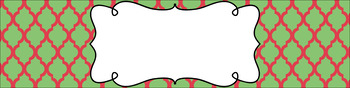 Editable Sterilite Drawer Labels - Dual-Color: Watermelon