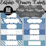 Editable Sterilite Drawer Labels - Dual-Color: White Water Rapids