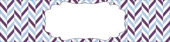 Editable Medium Sterilite Drawer Labels - Amethyst