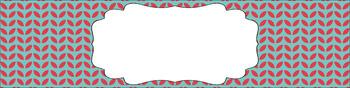Editable Sterilite Drawer Labels - Dual-Color: Coastal Affair