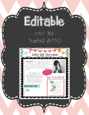Editable Meet The Teacher Letter