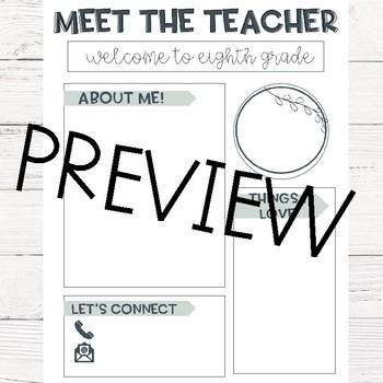 Editable Meet The Teacher Letter! (Neutral Colors!)