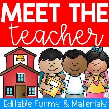 Meet The Teacher Night (Editable Forms & Materials)