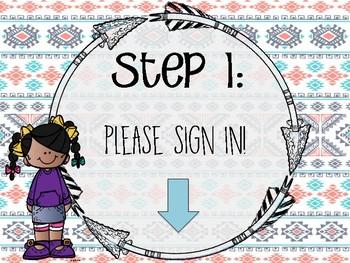 Editable Meet The Teacher Station Signs (Open House)