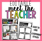 Meet The Teacher handout (EDITABLE)