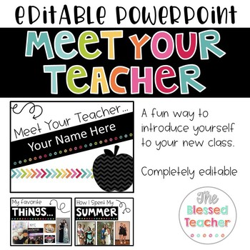 Meet The Teacher Slideshow Worksheets & Teaching Resources | TpT