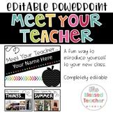 Editable Meet Your Teacher Slideshow