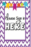 Editable Meet and Greet 4x6 signs for Ikea Frames