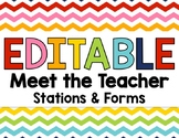 Editable Meet and Greet Bundle with Back to School Forms