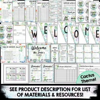 Open House Forms | Meet the Teacher Template Editable