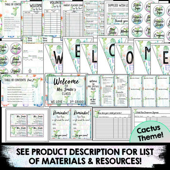 Open House Forms | Meet the Teacher Template | Back to School Night Editable