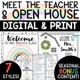 Open House Forms | Digital Back to School Night Meet the Teacher Editable Google