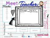 Editable Meet the Teacher / Back to School Info Slide