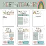 Editable Meet the Teacher | Boho Rainbow Theme