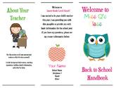 Editable Meet the Teacher Brochure (Mac Version)