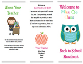Editable Meet the Teacher Brochure (Microsoft Version)