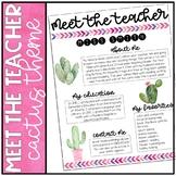 Editable Meet the Teacher - Cactus