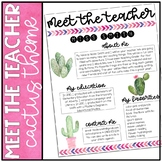 Meet the Teacher: Cactus Theme
