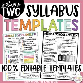 Editable Meet the Teacher, Editable Syllabus, and Editable Newsletter Templates