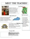 Editable Meet the Teacher Flyer